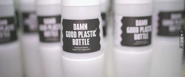 BE O bottle gemaakt van restmateriaal van suikerriet